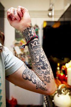 mickey black tattoo