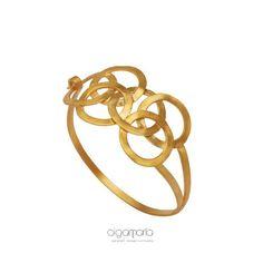 Statement Bracelet Gold Bracelet Geometric Bracelet Wedding Bracelet Circles Jewelry Bridal Jewelry Anniversary Gift Made in Greece Gift Delicate Jewelry, Unique Jewelry, Cross Pendant, Bridal Jewelry, Jewelry Design, Pendant Necklace, Jewels, Photo And Video, Bracelets