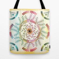 Mandala Tote Bag #society6 #mandala #bohemian #bags #totebag #want #famenxt