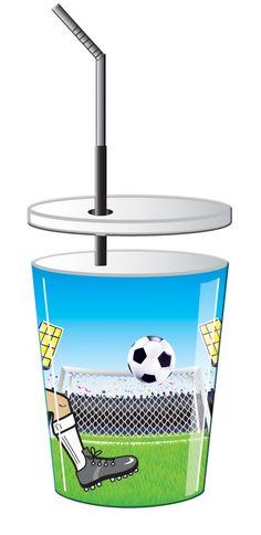 Bekers voetbal 3d - Suus Kinderfeestjes