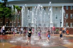 FREE Interactive Water Fountains at Falls River Square- Cuyahoga Falls