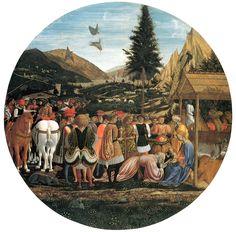 Domenico Veneziano, Adorazione dei Magi, 1439-1441, tempera su tavola, Gemäldegalerie, Berlino