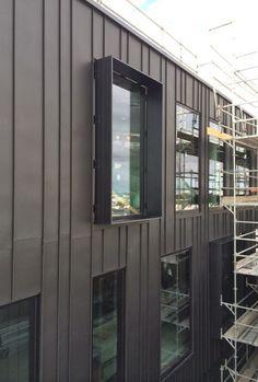 External Wall Cladding, Zinc Cladding, House Cladding, Exterior Cladding, Steel Frame House, Architectural Materials, Metal Siding, Facade Architecture, House Design