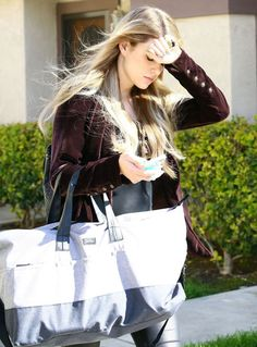 Briana Jungwirth leaving her home with her baby boy Freddie Reign Tomlinson and her mother in Los Angeles, California
