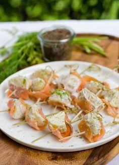 #Recipe: Smoked Salmon & Potato Skewers with Dill & Shallots