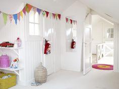 Barnrumsinspiration – färgglatt i rosa och gult – Sköna hem