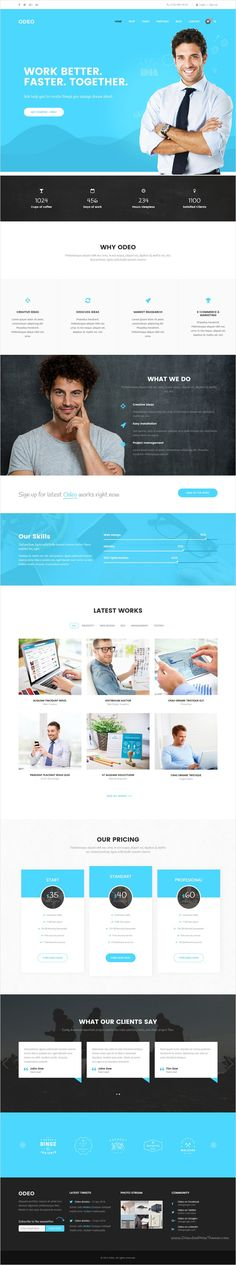 Odeo is a clean and professional 10 in 1 bootstrap #HTML #template for #webdesign Business, Photo Studio, Freelancers, Portfolio, Personal, Medicine, Travel, Creative Agency, Corporate, Blog, Interior or eCommerce website download now➩ https://themeforest.net/item/odeo-multipurpose-business-html-template/18545321?ref=Datasata