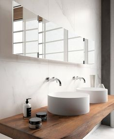 The Edilgres:porcelain stoneware wall that looks like marble. #bathroom