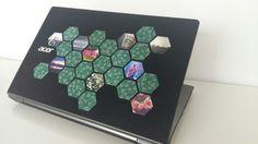 Laptop diy - laptop decoration - sticker - washi tape Washi Tape Laptop, Diy Laptop, Washi Tape Diy, Stickers, Decoration, Books, Crafts, Decor, Libros