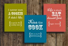 Super cute (and free) printables from CuldeSacCool.