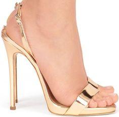 Naomie Harris Stuns Yet Again in Alexander McQueen Dress and Giuseppe Zanotti Sandals Hot Heels, Sexy High Heels, Giuseppe Zanotti Heels, Gold Shoes, Black Leather Heels, Women's Feet, Slingback Sandal, Dress And Heels, Vestidos
