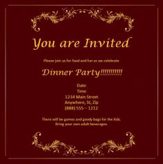 Come dine with me invitation template free newsinvitation free tombstone unveiling invitation cards templates google search come dine with me thecheapjerseys Gallery