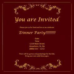 format for invitation