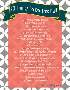 fall bucket list www.thepinningmama.com