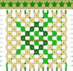 Turtle tortoise friendship bracelet pattern number #10223 - For more patterns and inspiration visit our web or the app!