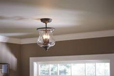 Shop allen   roth 3 Light Hurricane Semi-Flush Mount at Lowe's Canada. Find our selection of semi flush ceiling lights at the lowest price guaranteed with price match   10% off.