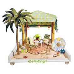 American Girl Collection * American Girl Mini Rooms = Complete Cabana Set - 2000?