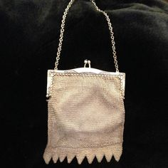 1920's silver chainmail evening bag/ purse by iamia | notonthehighstreet.com