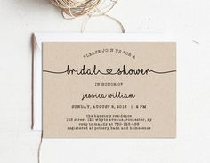Bridal Shower Template Inspiration Bridal Shower Invitation Printable Bridal Shower Template Miss To .
