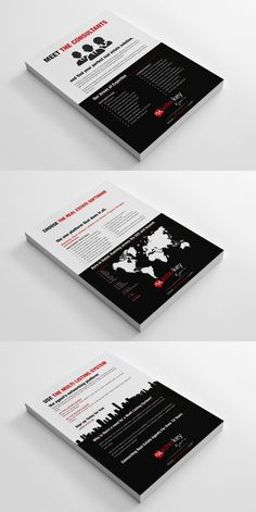 Company Flyers layout design for the world