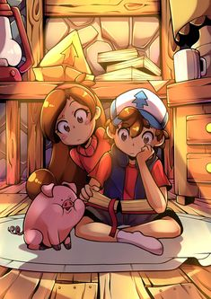 The Mystery Twins - Gravity Falls, Iqbal Fauzi on ArtStation at www. - The Mystery Twins - Gravity Falls, Iqbal Fauzi on ArtStation at www. Gravity Falls Anime, Gravity Falls Dipper, Gravity Falls Fan Art, Reverse Gravity Falls, Reverse Falls, Gravity Falls Journal, Dipper E Mabel, Mabel Pines, Dipper Pines