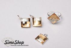 Set cu pandantiv, inel și cercei din cristale swarovski cu baza din argint 925! #bijuterii #swarovski #argint #simoshop Swarovski, Stud Earrings, Shopping, Jewelry, Jewlery, Jewerly, Stud Earring, Schmuck, Jewels