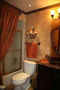 Tuscan Bathroom Decor Ideas: Inspiring Tuscan Style Homes Design & House Plans Tuscan Bathroom Decor, Bathroom Wall Decor, Bathroom Colors, Bathroom Styling, Bathroom Ideas, Paint Bathroom, Scandinavian Bathroom, Bathroom Organization, Bathroom Furniture