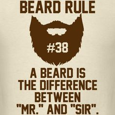 Beard Rule #38 T-Shirt | Beard Rules