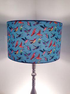 Bright and Busy Humming Birds  Fabric by Lightflightlighting