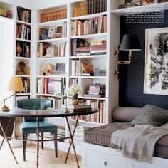 love position of lamp on book cases