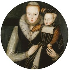 1st wife of Henry Herbert 2nd Earl of Pembroke. 1562 Lady Katherine or Catherine Grey (1540-1568) & her son Edward Seymour, Lord Beauchamp of Hache (1561-1612)