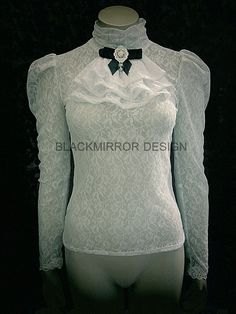 White Edwardian lace top by blackmirrordesign on Etsy