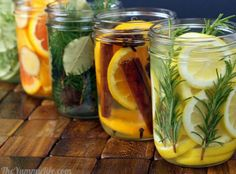 """If you're like me and hate the artificial """"good"""" smells you can buy, this clever tutorial from The Yummy Life shows you how to make your own using all natural ingredients. Lemon, rosemary and vanilla anyone? Or lime, thyme, mint and vanilla."""