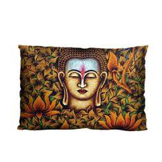 "Custom Lord Buddha Throw Pillow 20* 30"" (Twin Sides)"