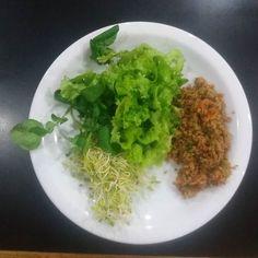 Agrião  alface broto de feijão e salada mexicana (com soja)  #reeducaçãoalimentar #alimentaçãosaudável #dieta #dietasaudável #emagrecer #emagrecimento #emagrecercomsaude