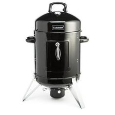 The Cuisinart vertical 16 in. charcoal smoker was built to last. The 3 year warranty adds confidence to the durable framework and porcelain enamel water bowl. Grilling Steak Tips, How To Grill Steak, Charcoal Smoker, Charcoal Water, Best Electric Smoker, Water Smoker, Stainless Steel Grill, Honey Glaze, Smoked Chicken