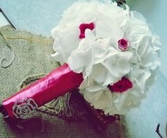 Fairy Tale Bouquet Fresh White Hydrangea and Tros by madebyGeo