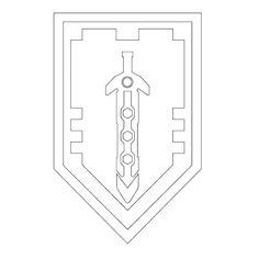 Nexo Lego Knights Shields Coloring Page Projekty Na Vyzkouseni