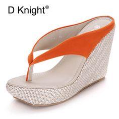 4712daf2d0a7e9 Sandals Shoes Woman Bohemia Style Flip Flops Gladiator Sandals Women 5  Colors Platform Wedges Sandals Ladies