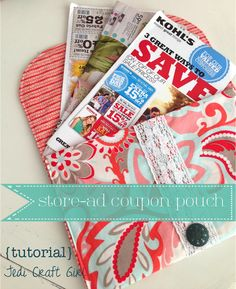 Store-Ad Coupon Pouch {tutorial}