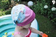 DIY: Kopftuch selber nähen. Heute zeige ich euch, wie ihr - wärend eure Kleine einen Mittagsschlaf macht - eine Sommermütze näht.