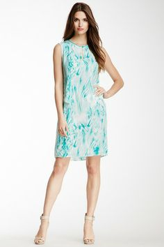Magaschoni Printed Silk Sleeveless Dress by Non Specific on @HauteLook