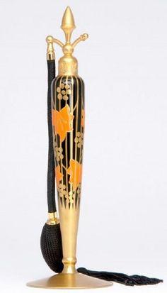 Art Deco ~ Perfume Bottle  ~~ For more:  - ✯ http://www.pinterest.com/PinFantasy/curioso-~-perfume-frascos-bottles/