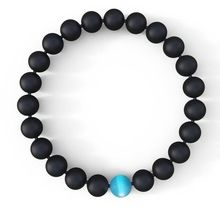 Mens Water Drop Bracelet - Semi-Precious Natural Stones (8mm) - Handmade Genuine Quality Agate Bracelets(China (Mainland))