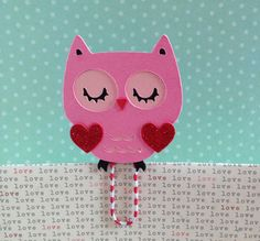 Here is another one... Valentines Owl Filofax Day Planner Bookmark Clip by KawaiiPaperie, $1.20