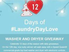 Speed Queen 12 Days of #laundrydaylove Giveaway Sweepstakes – Facebook  http://woobox.com/pp6ubs/jszkz8