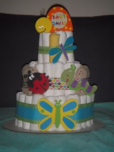 Insect diaper cake