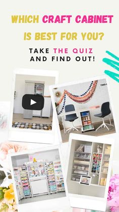 Which Craft Cabinet Is Right For You? Take The Quiz Craft Tables With Storage, Craft Storage Cabinets, Craft Cabinet, Good Tutorials, Craft Tutorials, Diy Craft Projects, Decor Crafts, Crafts To Make And Sell, Adult Crafts