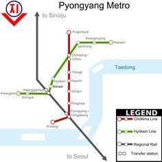 O #metrô de #Pyongyang é o sistema de transporte rápido que opera na capital da Coreia do Norte, Pyongyang. É um dos principais meios de transporte da cidade. Serve 16 estações ao longo de 2 linhas, com uma extensão total de 22,5 quilômetros. Todas as estações são subterrâneas. O número de usuários do metrô de Pyongyang está entre 300.000 a 700.000 por dia. A Comissão de Transportes e Comunicações da Coreia do Norte está encarregada de operar este sistema de metrô.