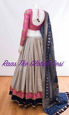 CHANIYACHOLI 2018 Stylish Blouse Design, Fancy Blouse Designs, Blouse Neck Designs, Indian Fashion Dresses, Indian Designer Outfits, Indian Outfits, Indian Clothes, Lehenga Saree Design, Lehenga Designs